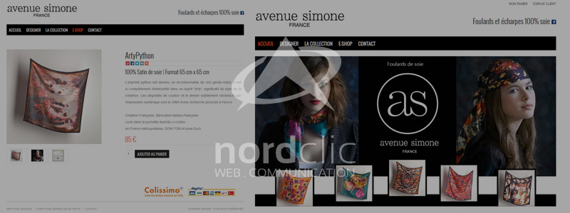 Avenue Simone e-commerce